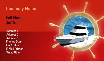 Red Yacht Business Card Template